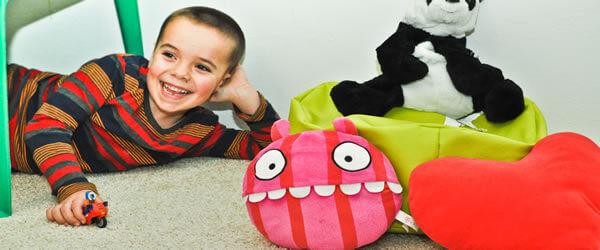 koberec na podlahe v detskej izbe