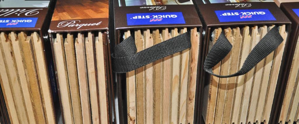 Vzorky drevených podláh Quick Step
