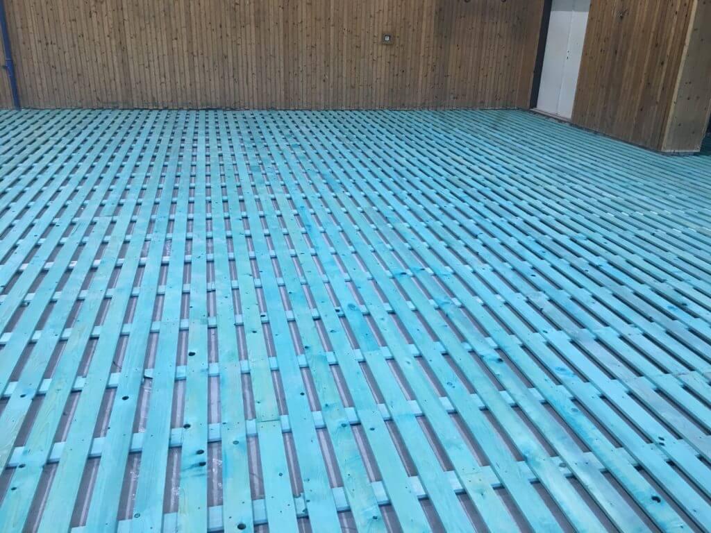 Športové podlahy - drevený odpružený rošt